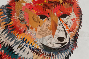 thumbnail for Red Fox Original Paper Collage