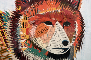 thumbnail for Red Fox in Meadow Original Paper Collage