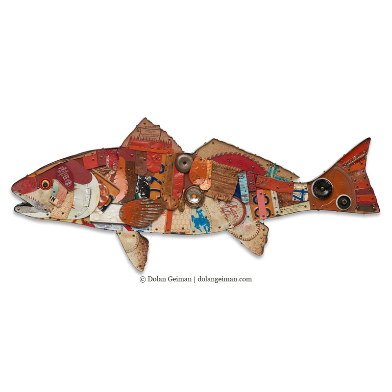 main image for Redfish Original Mixed Media Wall Sculpture