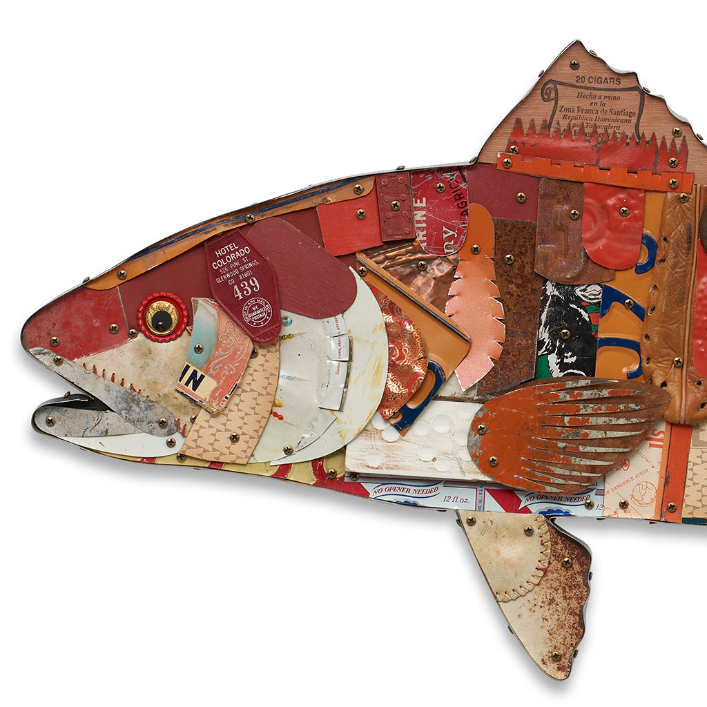 Redfish Original Mixed Media Wall Sculpture