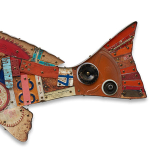 thumbnail for Redfish Original Mixed Media Wall Sculpture
