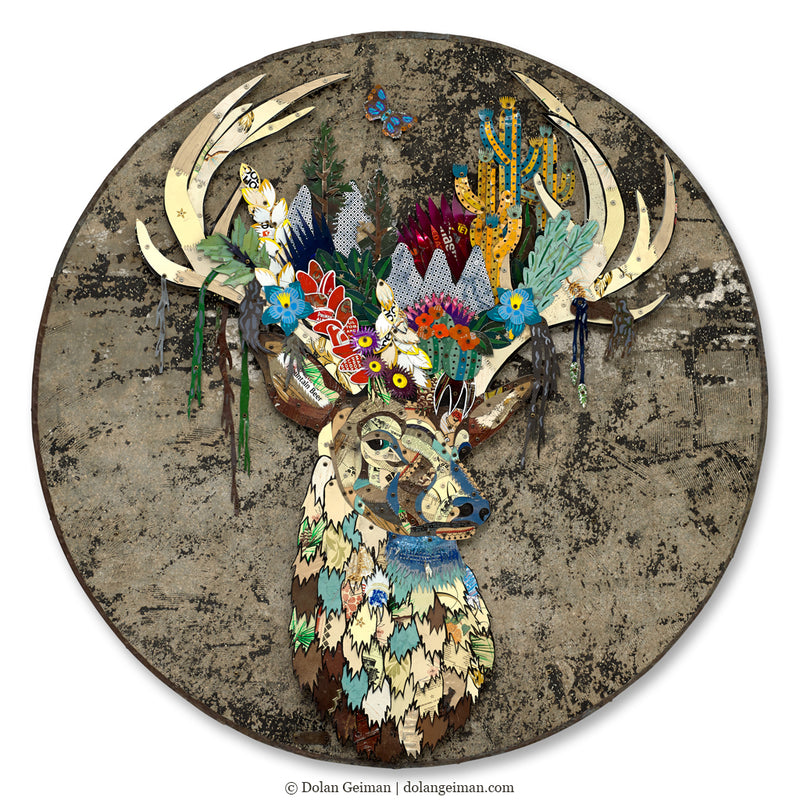 main image for Rising Folktale Circular Metal Wall Sculpture