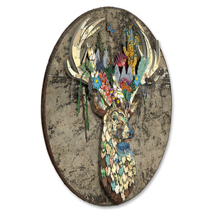 thumbnail for Rising Folktale Circular Metal Wall Sculpture