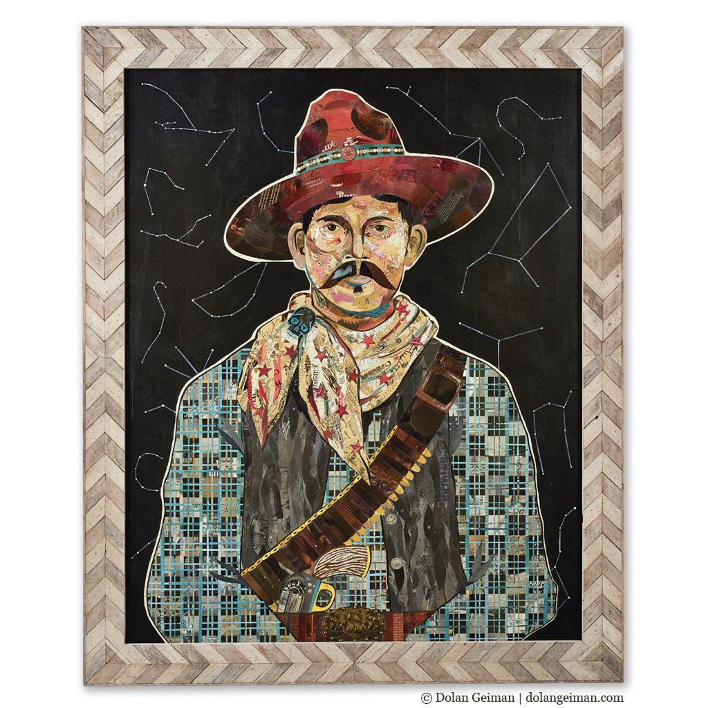 Rustler, Portrait at Midnight Cowboy Art Collage
