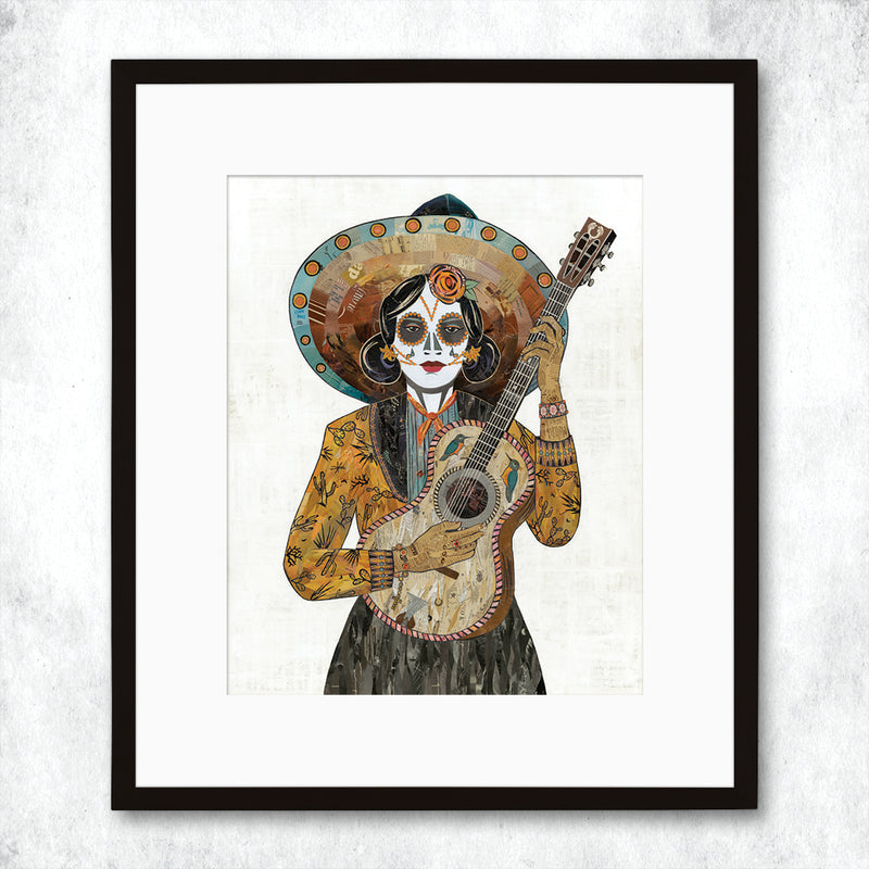 main image for WHSL - Señorita (Hummingbird) Guitar Player Art Print