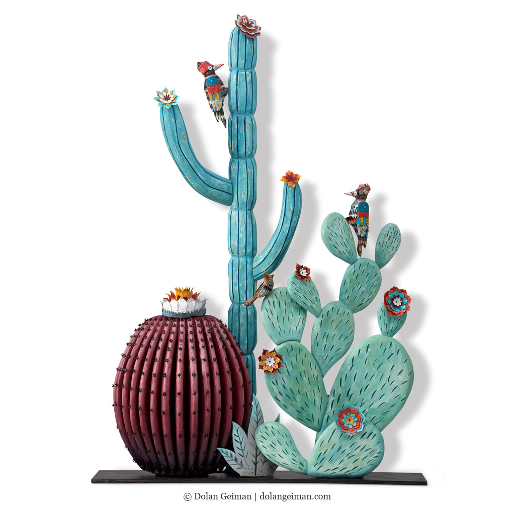 Large-Scale 3D Cactus Sculpture