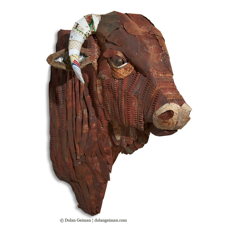 main image for Custom Santa Gertrudis Bull Sculpture