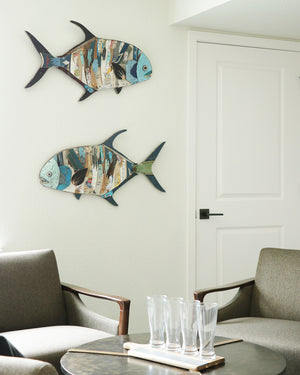 thumbnail for Permit Fish Original Metal Wall Sculpture