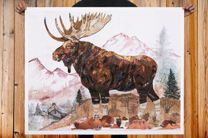 thumbnail for WHSL - Moose, Rocky Mountain Sentinel Art Print