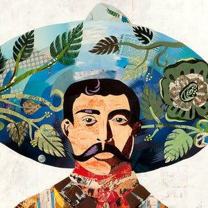 thumbnail for Señor Mexican Vaquero Paper Collage Art