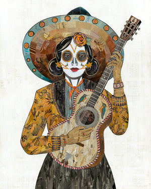 thumbnail for WHSL - Señorita (Hummingbird) Guitar Player Art Print