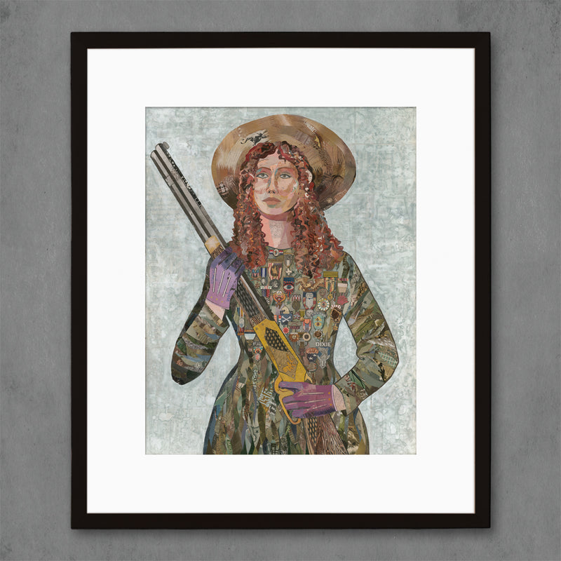 main image for Sharpshooter Paper Portrait Art Print