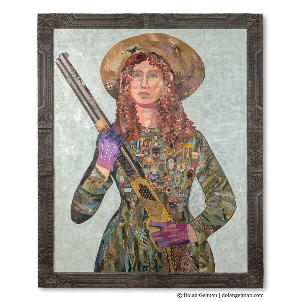Sharpshooter with Medals Female Collage Portrait