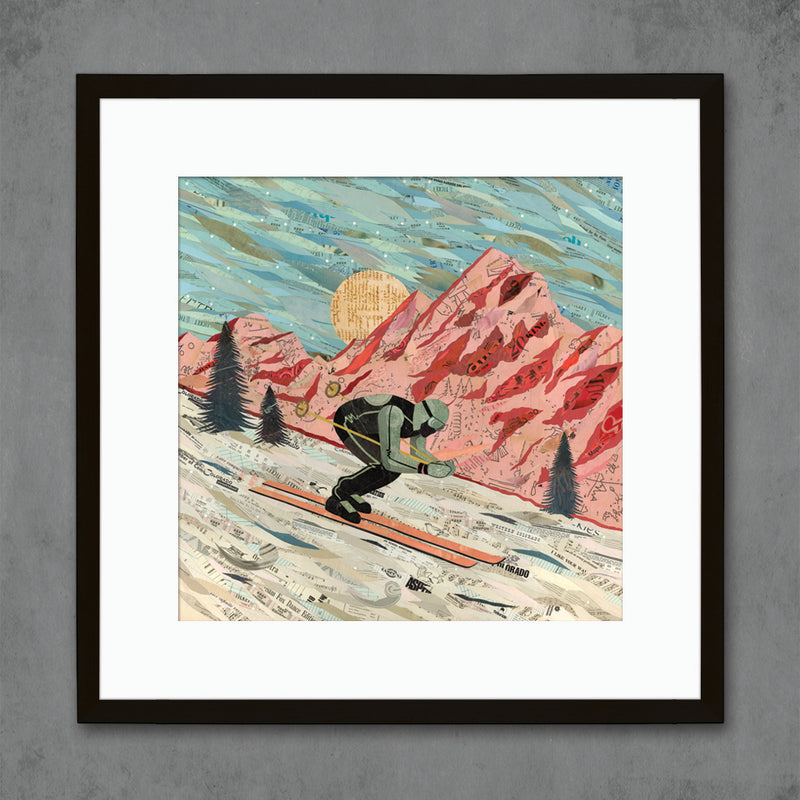 main image for Last Run Ski/Skiing Art Print on Paper