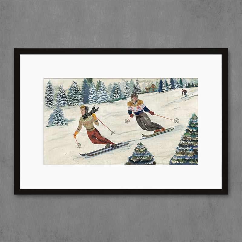 main image for Vintage Alpine Skiing Art Print