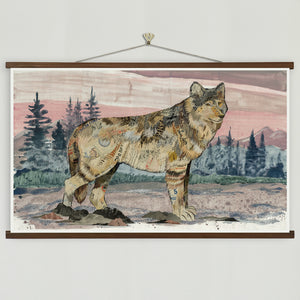 thumbnail for Sunrise Visitor Wolf Art Print