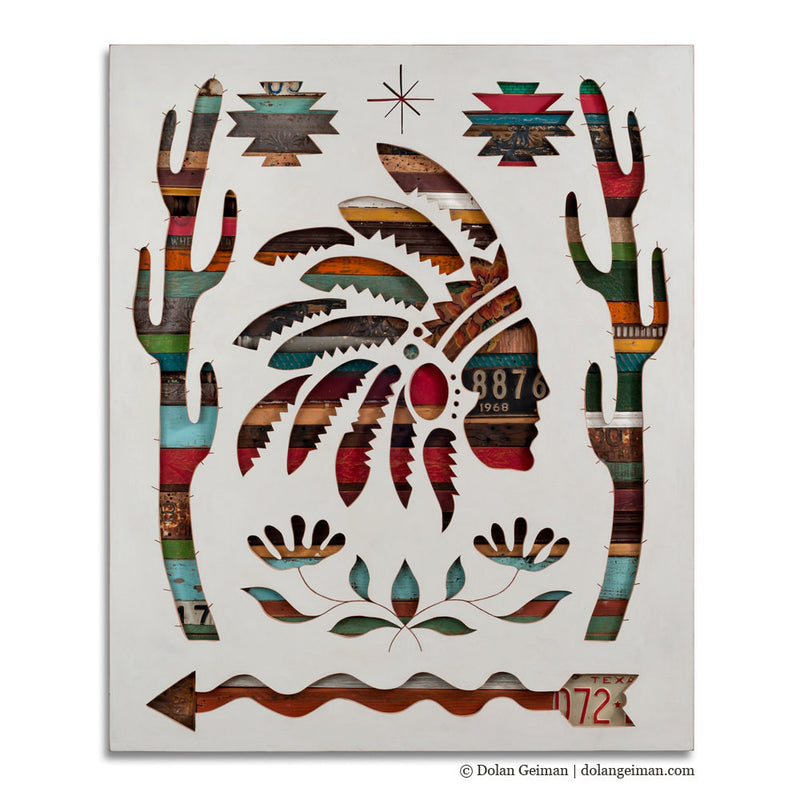 main image for Symbols Code West Southwestern Wood Silhouette Art
