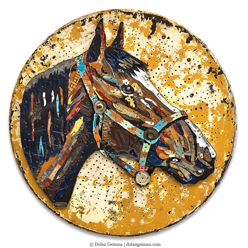 Tennessee Stud Circular Horse Wall Sculpture