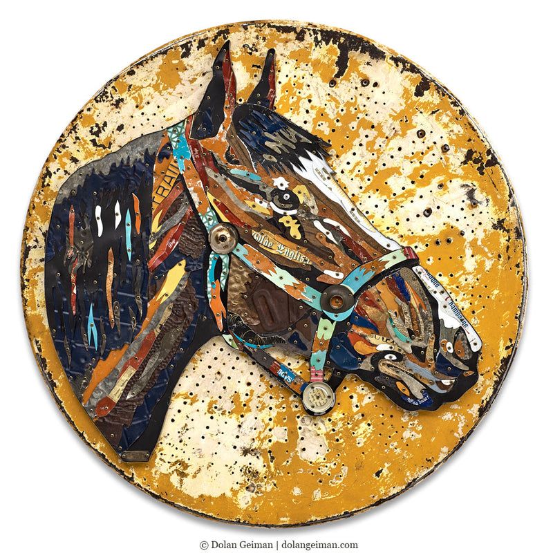 main image for Tennessee Stud Circular Horse Wall Sculpture