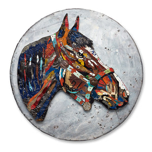 thumbnail for Tennessee Stud Circular Horse Wall Sculpture