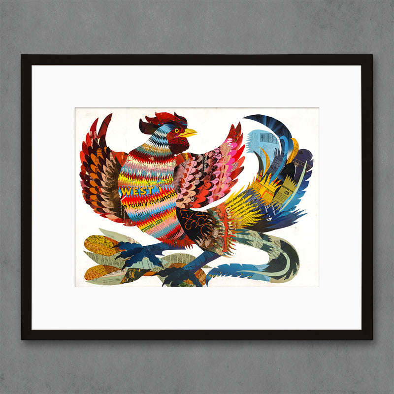 main image for The Rooster Farm Animal Art Print