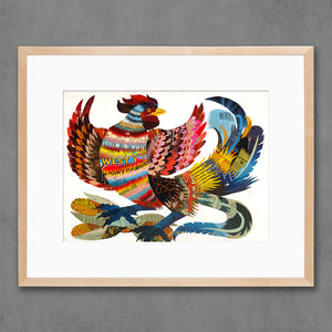 thumbnail for The Rooster Farm Animal Art Print