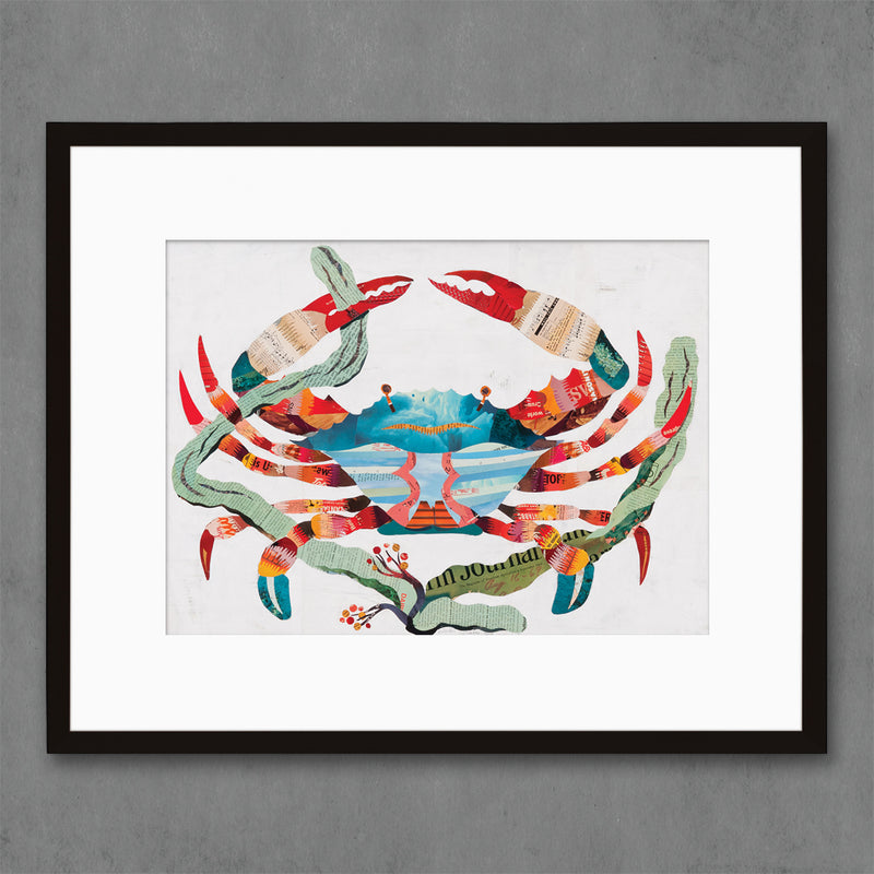 main image for Crab Art Print for Beach Home Decor