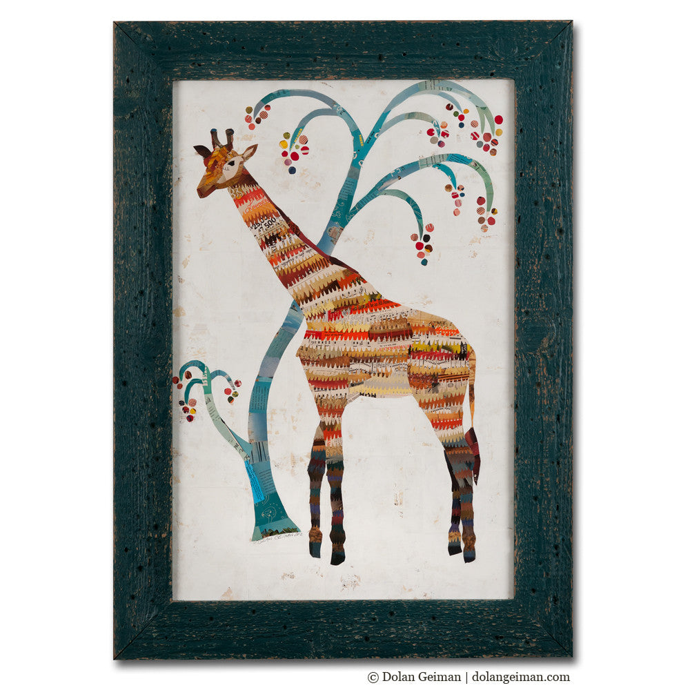 The Giraffe Paper Collage Art