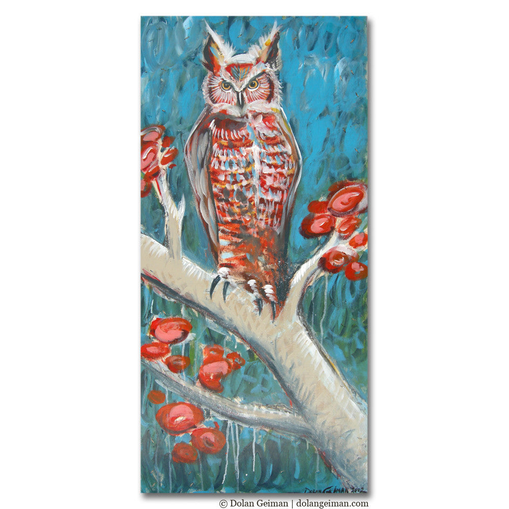 The Owl in the French Quarter Owl Painting