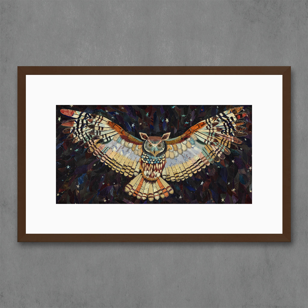 The Protector Owl Collage Print