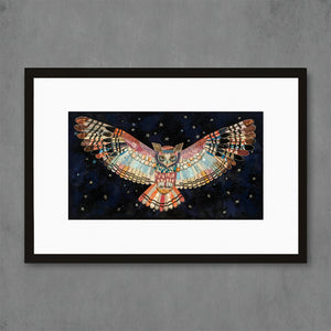 thumbnail for The Protector II Owl Art Print