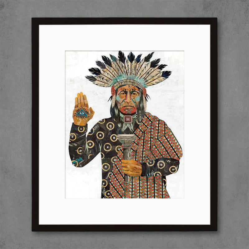 main image for Torch Bearer Native American Art Print