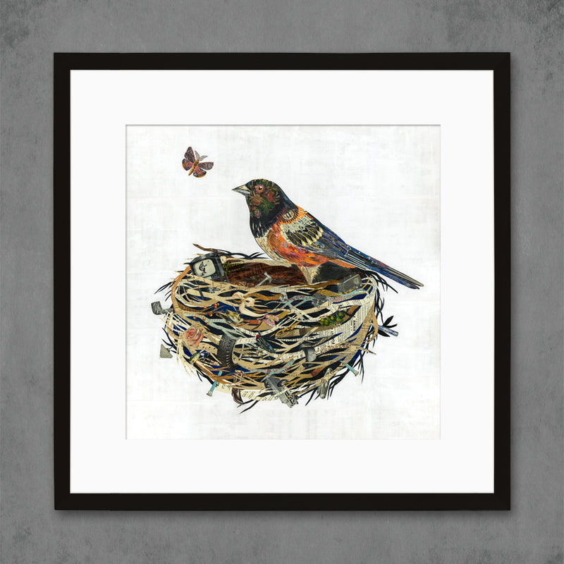 main image for Towhee in Nest Bird Art Print