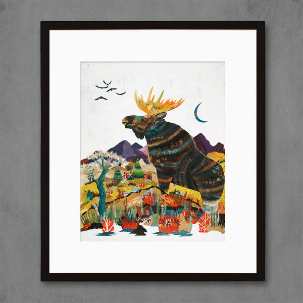 Trail of the Great King Moose Print
