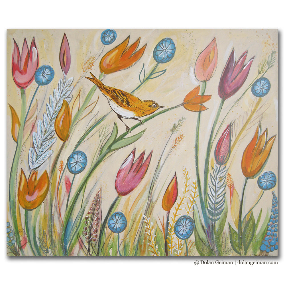 Bird and Flower Wall Art for Pediatric Hospital