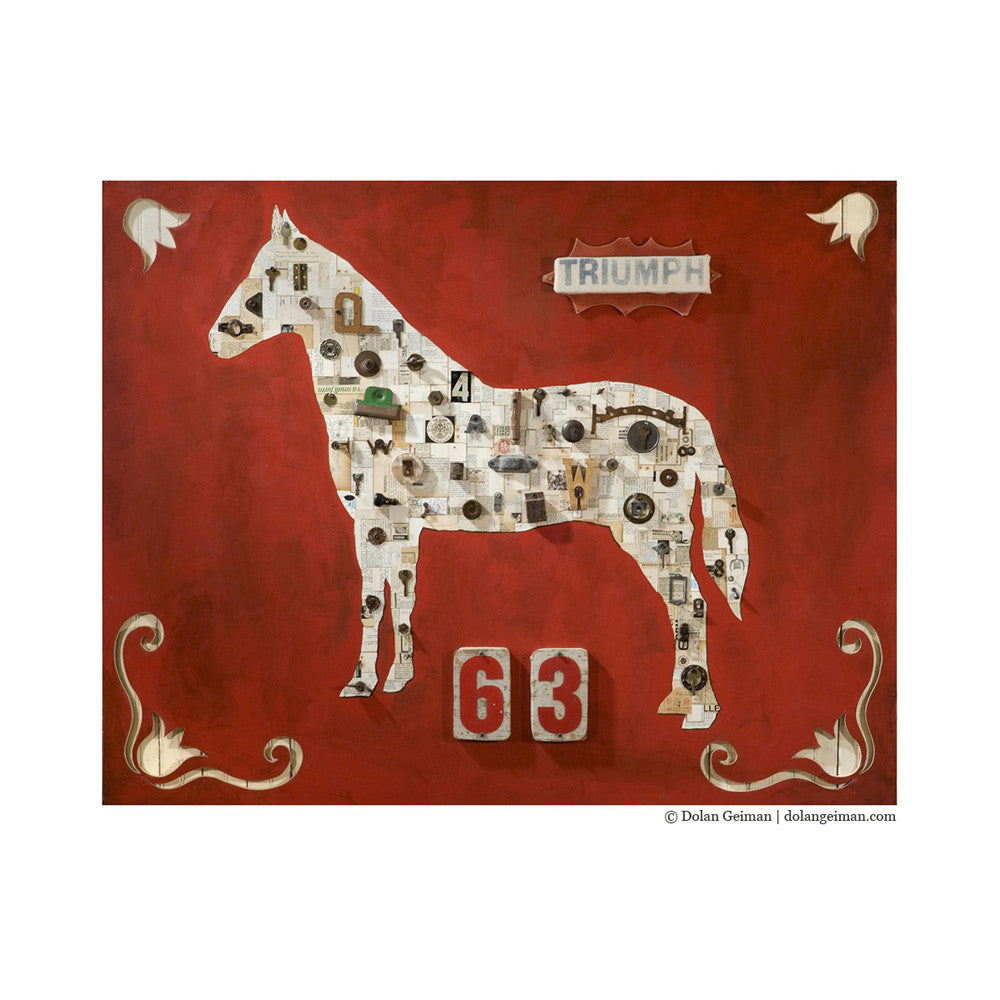 Triumph 63 Mixed Media Horse Art