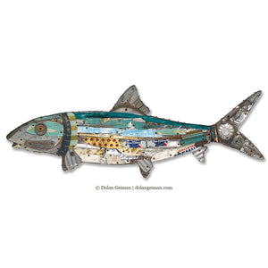 thumbnail for Bonefish Mixed Media Wall Sculpture