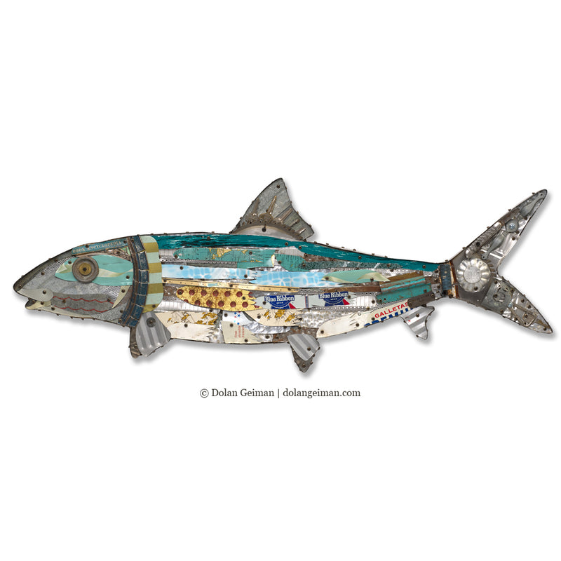 main image for Bonefish Mixed Media Wall Sculpture