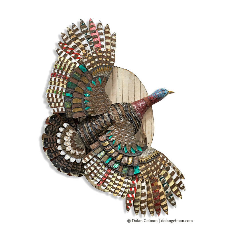 main image for Turkey Sculpture on Wood Mount