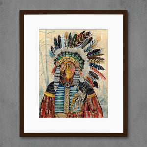 thumbnail for Turning Point Native American Art Print
