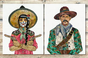 thumbnail for Vaquero (Tigers) Cowboy Art Print