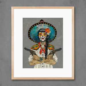 thumbnail for Vaquera Sudoeste (Blanco) Art Print