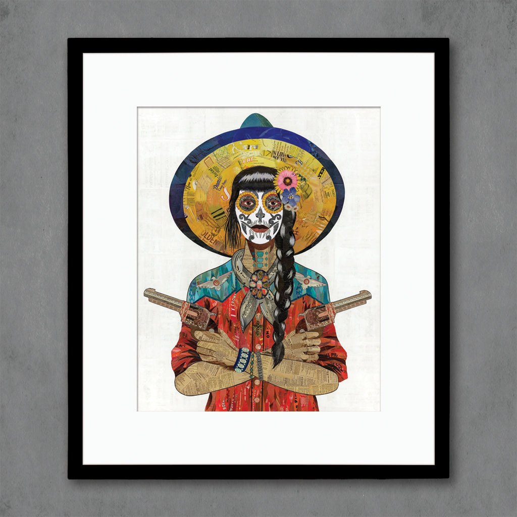 Vaquera Sudoeste (Red) Art Print