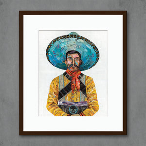 thumbnail for Vaquero (Skull) Cowboy Art Print