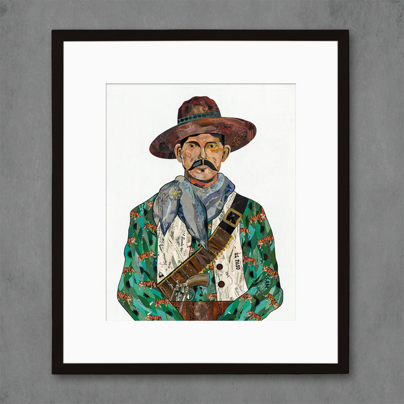 main image for Vaquero (Tigers) Cowboy Art Print