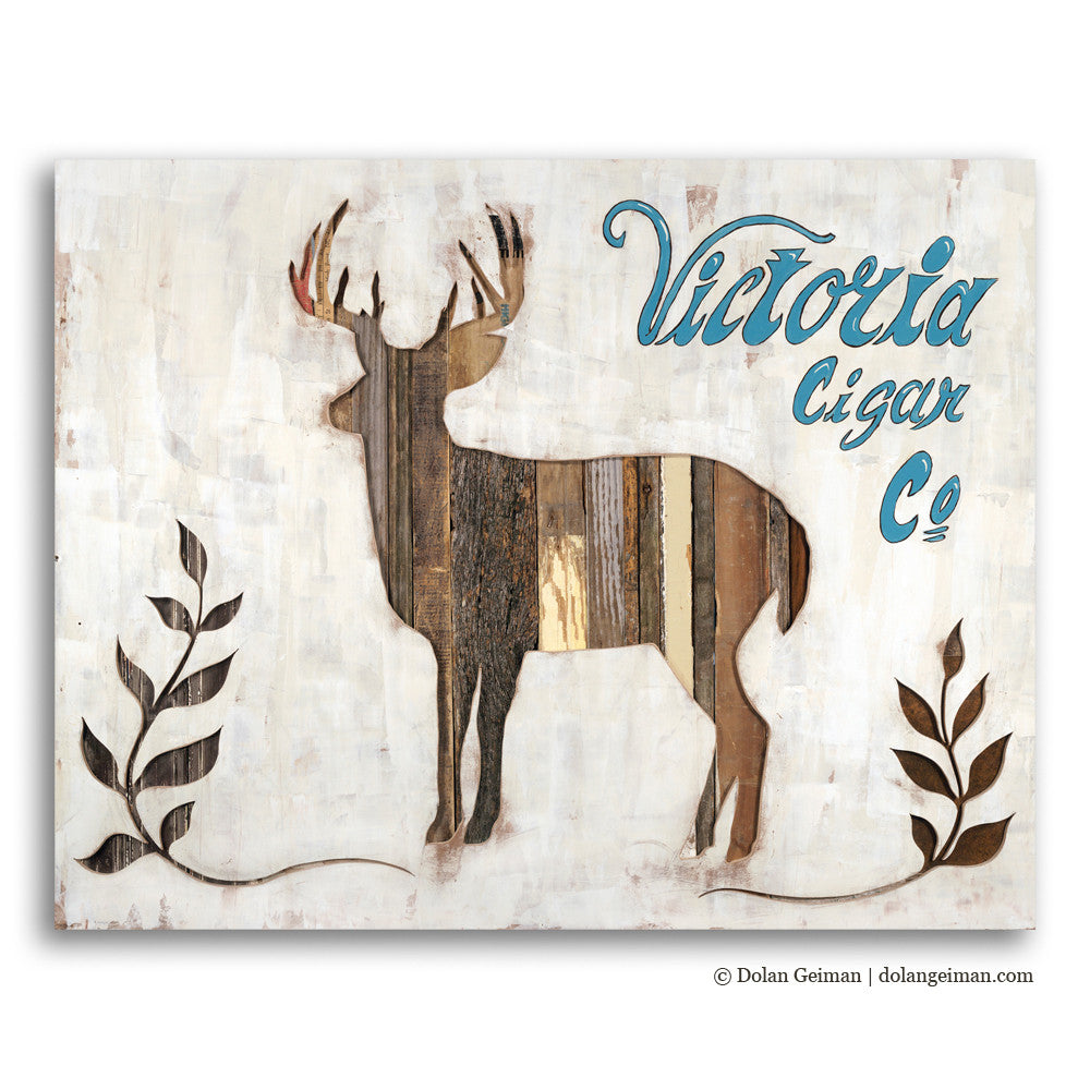 Victoria Cigar Co. Deer Silhouette Art