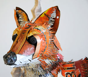 thumbnail for Vulpes Vulpes Found Object Fox Sculpture