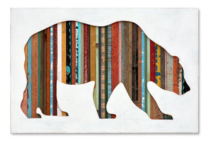 thumbnail for Walking Bear Original Mixed Media Silhouette Art