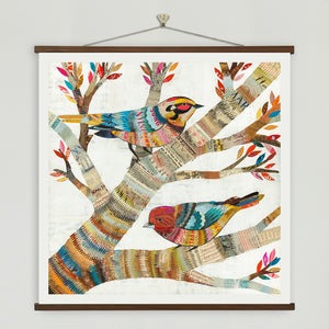 thumbnail for Warblers Birds in Tree Square Art Print