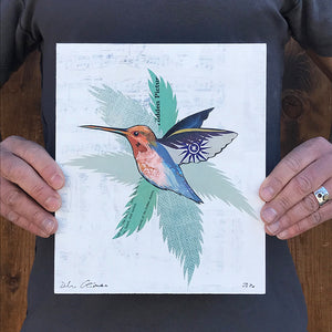 thumbnail for Small Works Event - Hummingbird on White - Original by Dolan Geiman